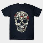 Skulls T-Shirt Captain America villain Cartoon Disney Ghost Rider Ghostface Horror Jack Skellington Marvel Comics Mashup Masters of the Universe