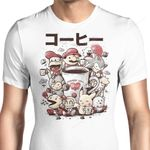 Games and Coffee Graphic Arts T Shirt