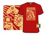 Gamers Unite T-Shirt Game Boy gamer joystick Nintendo Parody PlayStation propaganda T Shirt