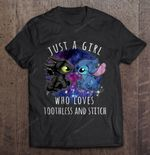 Just A Girl Who Loves Toothless And Stitch How to train your dragon Lilo Andamp; Stitch Stitch Toothless Toothless And Stitch T Shirt