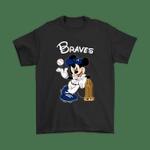 Atlanta Braves Mickey Taking The Trophy MLB 2018 Shirts Atlanta Braves baseball Commissioner's Trophy Disney Mickey Mouse MLB MLB 2018 Trophy T Shirt