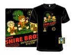Super Shire Bros. T-Shirt Lord of the Rings movie Nintendo Parody Super Mario Bros The Hobbit Video Game T Shirt