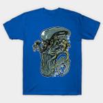 MermAlien T-Shirt Alien Aliens Mermaid movie Parody Xenomorph T Shirt