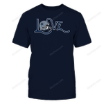 Love with Helmet - Dallas Cowboys NFL Dallas Cowboys 2 T Shirt