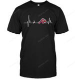 Atlanta Braves Heartbeat T Shirt gmc_created MLB-ATLANTA BRAVES T Shirt