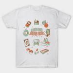 Childhood Starter Pack T-Shirt Anime floppy disk Mashup Nintendo PlayStation Pokeball Pokemon Tamagochi Uno VHS Video Game walkman T Shirt