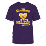 LSU Tigers - This Grammy Loves Football - Football Heart LSU Tigers T Shirt
