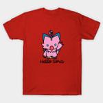 Hello Sora T-Shirt Anime Digimon Hello Kitty Manga Parody T Shirt