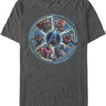 Wheel of Heroes Avengers Endgame T-Shirt MARVEL COMICS SHIRTS movie T Shirt