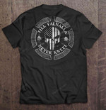 Till Valhalla Never Kneel The United States Punisher Viking Version Never Kneel Punisher United states Valhalla Valknut Viking T Shirt