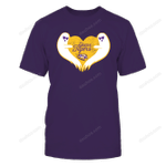 LSU Tigers - Ghost-Heart-IF32-IC32-DS64 LSU Tigers T Shirt