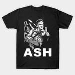 Johnny Ash T-Shirt Army of Darkness Ash vs Evil Dead Ash Williams Evil Dead Horror Johnny Cash movie Parody TV T Shirt