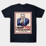 Get Me Pictures T-Shirt J. Jonah Jameson Marvel Comics Parody Spider-Man Superhero Uncle Sam T Shirt