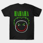 HAHAHA! T-Shirt Batman villain DC Comics Joker Nirvana Parody Supervillain T Shirt
