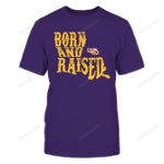 LSU Tigers - Born And Raised Inside State Map LSU Tigers T Shirt