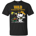 Minnesota Wild Make Me Drinks T Shirts bestfunnystore.com T Shirt