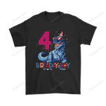 Dinosaur American Flag 4th Birthday Boy Shirts 4th of July America American American flag Birthday dinosaur Independence Day T-rex trending T Shirt