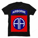 82nd Airborne Shirt - 1.5x enlarged 82nd Division Patch gmc_created Veteran Shirts T Shirt