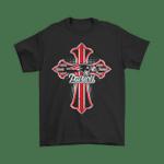 American Football Red Crusader Cross New England Patriots NFL Shirts Cross Crusader Cross football New England Patriots NFL T Shirt
