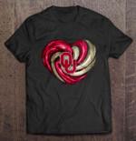 Oklahoma Sooners Heart Football T Shirt