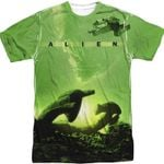 Spaceship Alien Sublimation Shirt 80s Movie T Shirt