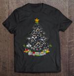 Merry And Bright Los Angeles Rams NFL Christmas Tree Football T Shirt