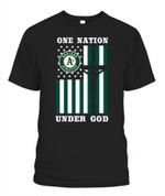 One nation under god Athletics MLB Oakland Athletics T Shirt