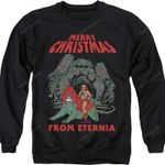 Merry Christmas from Eternia Masters of the Universe SweaT Shirt 80S CARTOON T Shirt