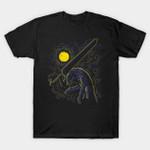 Impressionist Swordsman T-Shirt Anime Beast of Darkness Berserk Guts Manga Parody The Starry Night Vincent van Gogh T Shirt