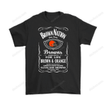 Brown Nation Dawg Pound Football Cleveland Browns Slogan Shirts America's Most Wanted Brown Nation Cleveland Browns football NFL Slogan whiskey T