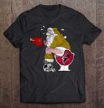 New Orleans Saints Santa Sitting On Atlanta Falcons Toilet And Step On Carolina Panthers Helmet Football T Shirt