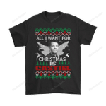 All I Want For Christmas Is Castiel Supernatural Shirts Angel Castiel Christmas Supernatural T Shirt