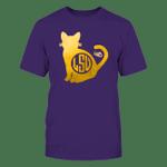 LSU Tigers - Cat - Cat Monogram LSU Tigers T Shirt