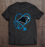 Carolina Panthers Stethoscope NFL Football T Shirt