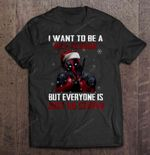 I Want To Be A Nice Person But Everyone Is Just So Stupid Deadpool Christmas Sweater Deadpool merry christmas Nice person Snow Stupid Stupid people T