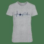 Dallas Cowboys - Heart Beat - Grey Shirt NFL Dallas Cowboys 2 T Shirt