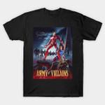 Army of Villains T-Shirt Army of Darkness Iron Man Marvel Comics Parody Superhero Tony Stark T Shirt