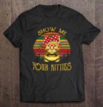 Show Me Your Kitties Cat With Bandana Glasses Vintage version Cat T Shirt