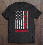 Trump Greenland American Flag Version American flag Greenland Trump T Shirt