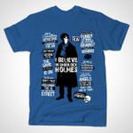 DETECTIVE QUOTES T-Shirt Benedict Cumberbatch Celebrity Quote Sherlock Sherlock Holmes Tom Trager TV T Shirt