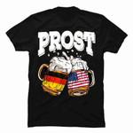 Prost Beer Oktoberfest German American Flag T Shirt gmc_created Uncategorized T Shirt