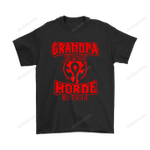 Grandpa By Day Horde By Night World Of Warcraft Shirts Family gamer grandpa The Horde Video Game World Of Warcraft T Shirt