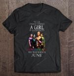 Never Underestimate A Girl Who Listens To Coldplay And Was Born In June Rock Band T Shirt