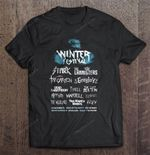 Winter Festival Stark The Lannisters Greyjoy Dead Baratheon Tyrell The Last Bolton GAME OF THRONES T Shirt