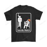 Cleveland Browns Suicide Watch With Popcorn NFL Shirts American Football Cleveland Browns football NFL Personalize Sarcatic Suicide Watch T Shirt