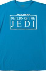 Turquoise Return Of The Jedi Logo Star Wars T-Shirt logo movie Return of the Jedi Star Wars T Shirt