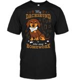 My Dachshund Ate My Homework T Shirts bestfunnystore.com T Shirt