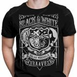 Vintage Black and White T-Shirt Braavos crest Game of Thrones The House of Black and White TV Valar Morghulis T Shirt