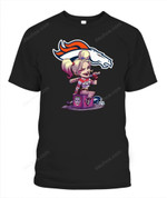 Harley Quinn Broncos NFL Denver Broncos T Shirt