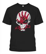 Skull sketchy AZ Cardinals NFL Arizona Cardinals T Shirt
